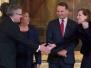 03-06-2014 - Minister Radosław Sikorski wraz z Małżonką Anną Applebaum-Sikorską uczestniczyli w uroczystości wręczenia Mustafie Dżemilewowi Nagrody Solidarności na Zamku Królewskim w Warszawie.